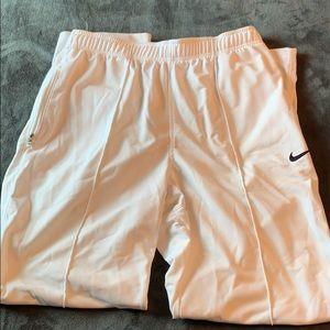 White nike sweatpants (not joggers)